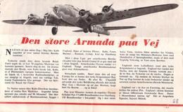 WWII WW2 Propaganda Leaflet Flugblatt Tract Danish  CODE D.5, Den Store Armada Paa Vej  FREE SHIPPING - Vieux Papiers