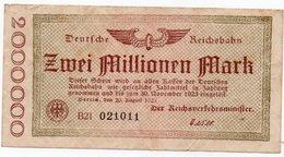 GERMANIA  2000000 MARK 1923 P-S1012    UNIFACE - [ 3] 1918-1933 : Repubblica  Di Weimar