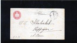 CG6 - Svizzera - Annullo Su Lettera Da Delemont 7/5/1871 Per Koppingen - Marcofilie