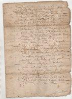 Loire Claude De Villars Baron De Maclas 1630 - Manuscripts