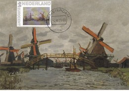 Carte Maximum Peinture Pays-Bas 2009 Monet Moulins - Cartoline Maximum