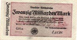 GERMANIA  20 MILLIARDEN MARK 1924 P-S1022 - 20 Milliarden Mark