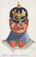 T5 - CPA - OFFICIER D'INFANTERIE ALLEMAND - Emile DUPUIS Maubeuge 1914 - Uniformen