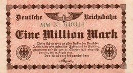 GERMANIA  1 MILLION MARK 1923 P-S1011 - 1918-1933: Weimarer Republik
