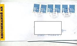 Lettre Recommandée Grenoble Sur Luquet - Storia Postale