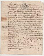 Loire Chuyer 1731 - Manuscripts