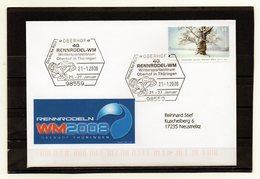 BRD, 2008, Brief (echt Gelaufen) Mit Michel 2509, Sonderstempel, Rennrodel-WM Oberhof - Lettres