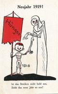German Political Hunger 1918. Strike . Skeleton. Death. 1918 . 1919 . Famine . Grève Allemagne. Mort - Satiriques
