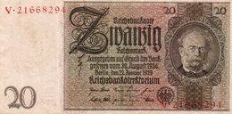 GERMANIA  20 REICHSMARK 1929  P-181 AUNC - [ 3] 1918-1933: Weimarrepubliek