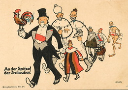 German Political Racist Card Against France England Japan Montenegro Belgium Russia Tzar - Satiriques