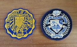 2 Ecussons Neufs Brodés Feutrine UCLA Université Américaine Californie Los Angeles - Ecussons Tissu