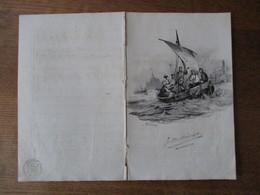 LE CONCERT SUR L'EAU  BARCAROLLE PAROLES DE M. A.BETOURNE MUSIQUE DE M. AMEDEE DE BEAUPLAN  LITH. DE LANGLUME - Noten & Partituren