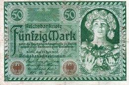 GERMANIA  50 MARK 1920  P-68 XF - [ 3] 1918-1933 : República De Weimar