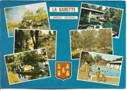 D79 - LA GARETTE - MARAIS POITEVIN-LA VENISE VERTE-Vache Dans Barque-Piscine-Blason Etc...  CPSM Multivues Grand Format - Sonstige Gemeinden