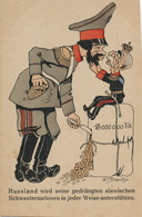 German Racist Card Against Russia And Europe  Gold . Tsar Czar - Satiriques