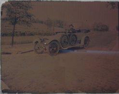 """Photo-dia"" Sur Plaque - 1913- Automobile  (colorisé) - Diapositiva Su Vetro"