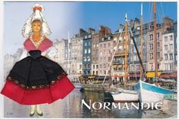CARTE BRODEE: NORMANDIE: Les Bateaux ,les Voiliers - Brodées