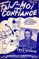 ACCORDEON - EMILE PRUD'HOMME - FAIS MOI CONFIANCE - 1950 - EXC ETAT COMME NEUF - - Autres