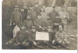 Soldats 115° 116°Régiment   Folies Carpiagnaises Chambre Iéna 22 Janvier 1916  Carpiagne - Guerre 1914-18