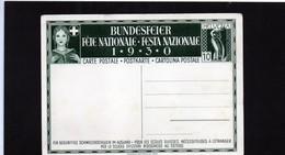 CG6 - Svizzera - Cartolina Postale Festa Nazionale 1930 - Interi Postali