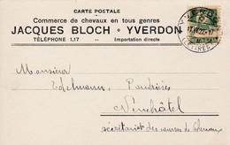 Postkarte. Carte Postale, Jaques Bloch, Yverdon, Commerce De Chevaux En Tous En Tous Genres. Mi: 164 X. - Storia Postale
