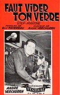 ACCORDEON - ANDRE VERCHUREN - FAUT VIDER TON VERRE - 1959 - EXC ETAT COMME NEUF - - Autres