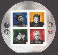 Canada, 2011, MNH, Artiste De La Chanson, Chanteur, Musique, Music, Singer, McGarrigle, Reno, Cockburn, Robertson - Full Panes