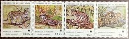 El Salvador 1988 WWF Ocelot Margay Animals MNH - Roofkatten