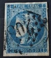 FRANCE 1870 - Canceled - YT 45A - 20c - 1870 Uitgave Van Bordeaux