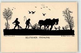52685023 - Deutscher Fruehling Bauer Pferd Scherenschnitt - Autres Illustrateurs