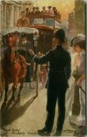 HARRY PAYNE SIGNED TUCK'S POSTCARD 1910s - METROPOLITAN POLICE / POINT DUTY PICCADILLY CIRCUS - N. 9824 (BG763) - Tuck, Raphael