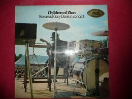 LP N°1674 - REVEREND GARY DAVIS - CHILDREN OF ZION - COMPILATION 2 LP 9 TITRES IMPORT - Blues