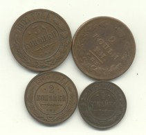 RUSSIE 1 KOPECK 1896    +  2  KOPECKS  1811 + 2 KOPECKS  1903    + 3 KOPECKS  1901 - Russie