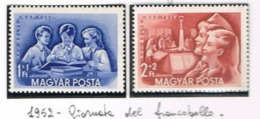 UNGHERIA (HUNGARY)  -  SG 1260.1261  -  1952  STAMP DAY (COMPLET SET OF 2)  -  MINT** -  RIF.CP - Ungheria