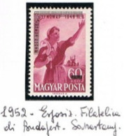 UNGHERIA (HUNGARY)  -  SG 1235  -  1952  BUDAPEST PHILATELIC EXN. (STAMP OF 1949 OVERPRINTED)  -  MINT** -  RIF.CP - Ungheria