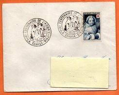 MAURY N° 915  CROIX ROUGE      1952 LA CHAISE DIEU     Lettre Entière N° LM 93 - 1921-1960: Modern Tijdperk