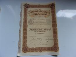 COMPTOIRS GENERAUX DE L'INDOCHINE (Ets Jacque & Daurelle) Saigon - Unclassified