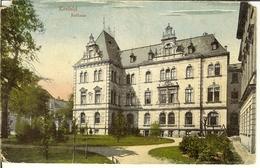 """CP De KREFELD """" Rathaus """" + Cachet Militaire Belge 5 Pour Ocquier . - Krefeld"""