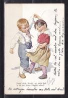 177M * KÜNSTLERKARTE * DREH DICH MÄDEL **! - Kinder-Zeichnungen