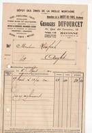 Bayonne (64 Pyrénées Atlantiques) Petite Facture GEORGES DUFOURCET Fers Tôles Zinc 1930 (PPP21479) - Francia