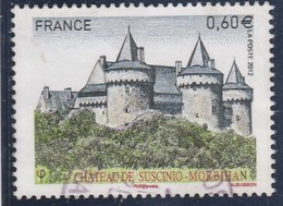 FRANCE 2012 CHATEAU DE SUSCINIO YT 4662 OBLITERE - - Frankreich