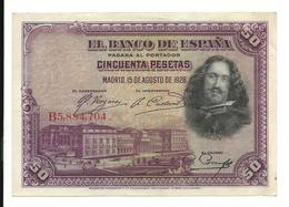 Spain 50 Pesetas 1928 EF - [ 1] …-1931 : Eerste Biljeten (Banco De España)