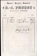 ANGLET (64 Pyrénées Atlantiques) Petite Facture E J PRUDET épicerie Bonneterie Mercerie  191... (PPP21481) - Francia