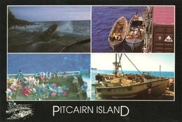 PITCAIRN ISLAND- Carte, Timbre Et Oblitération De L'île. - Pitcairn Islands