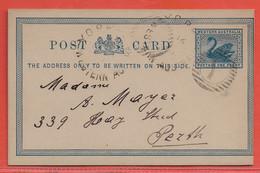 AUSTRALIE OCCIDENTALE ENTIER POSTAL 1 PENNY DE 1901 DE YORK POUR PERTH - 1854-1912 Western Australia