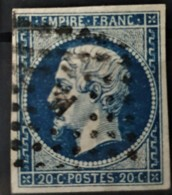 FRANCE 1854 - Canceled - YT 14Aa - 20c - 1853-1860 Napoleon III
