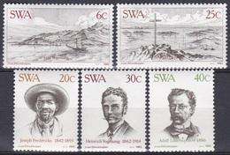 Südwestafrika SWA Namibia 1983 Geschichte History Persönlichkeiten Vogelsang Lüderitz Fredericks Diamanten, Mi. 532-6 ** - África Del Sudoeste (1923-1990)