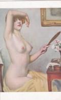 HERVE : Coquetterie - Nu Femme Miroir-  CPA Lapina - Salon De Paris  (lot Pat 100/02) - Tableaux