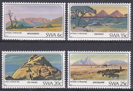 Südwestafrika SWA Namibia 1982 Tourismus Tourism Berge Mountains Brandberg Spitzkuppe Omatako Nadel, Mi. 524-7 ** - South West Africa (1923-1990)