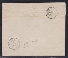 """Ferroviaire - Cachet D'essai Ambulant Paris Au Havre Brigade """"D"""" De 1866 - Indice 22 - Marcophilie (Lettres)"""